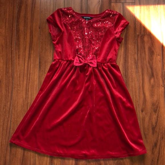 George Dresses Girls Red Formal Dress Size 1012 Poshmark